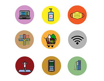 Icon set - Quarantine times