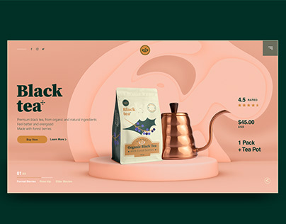 Black Tea - Branding & UI