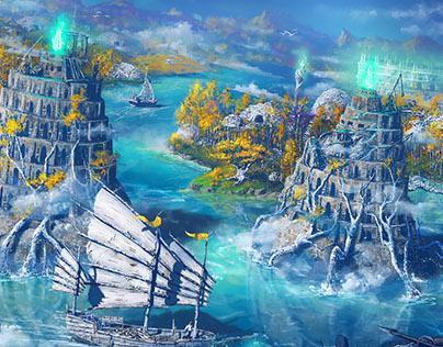 Liat - City Illustration for Heroes Tears RPG