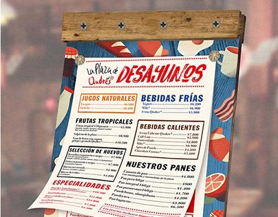Diseño de menús varios para Andrés Carne de Res