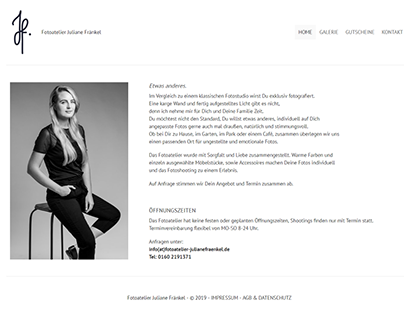 Wordpress Theme - fotoatelier-julianefraenkel.de -
