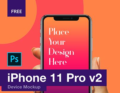 iPhone 11 Pro Mockup - Free Download (v2)