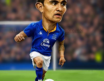 Everton FC caricatures