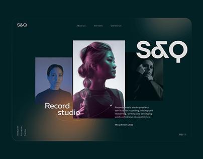 Webdesign for recording studio