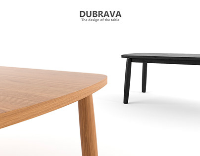 """""""DUBRAVA"""" The design of the table"""