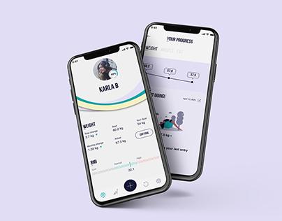 UI | UX Design - Weight Tracker
