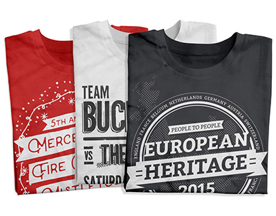 A Few Shirt Designs 2012-2018