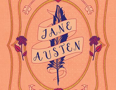Jane Austen-Themed Stationery Set Cover Design