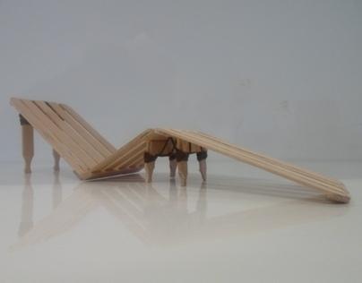 Recycled Garden Sun Lounger Model (NUIM)