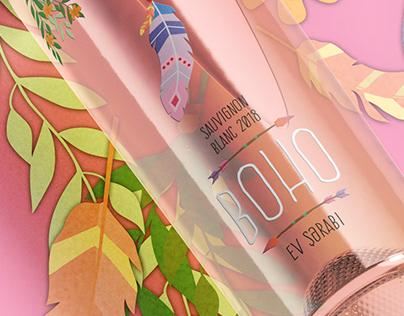Boho Homemade Summer Wines - Label Design