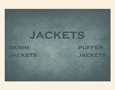 DENIM AND PUFFER JACKETS - RESEARCH
