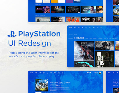 PlayStation UI | UX Redesign