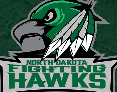 University of North Dakota Outdoor TV Cover w// Fighting Hawks Logo