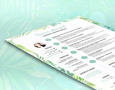 CV floral / Floral Resume