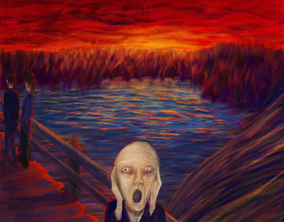 5th Scream | Adobe Digital Painting Contest