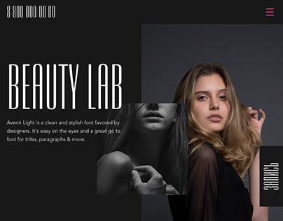 Макет сайта для салона красоты