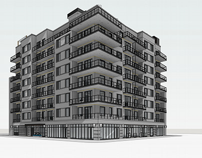BIM Model of Residential Multi-Family Building in NYC
