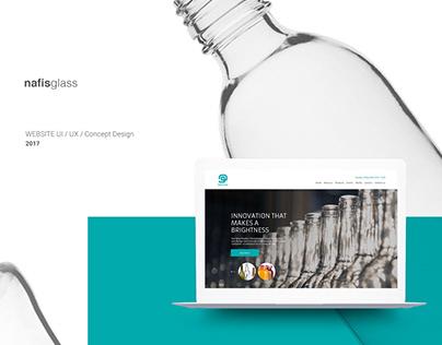 nafisglass - web UI/UX design