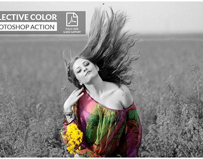 Selective color Photoshop Action