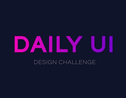 Daily UI Design Challenge