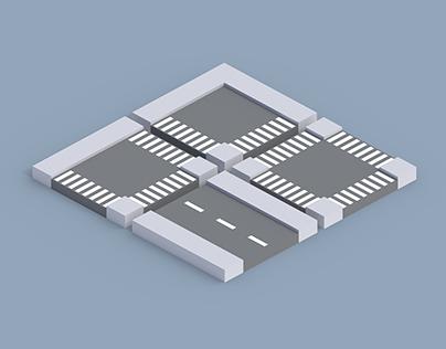 Low Poly Modular Roads - Free Asset Pack