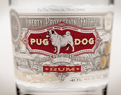 PUG DOG RUM in process