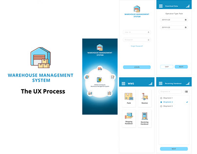 UX Process for Warehouse Management System