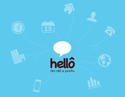 Layout de sistema web Alô Hellô