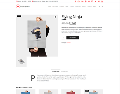 Shop Single-Product Page - Employment WordPress Theme