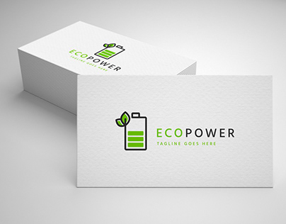 eco power logo template for sale