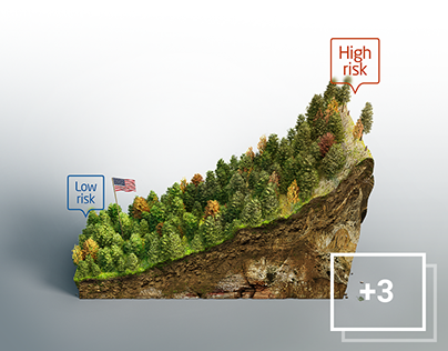 Forestry 3D infographics