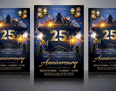 Anniversary Flyer Template