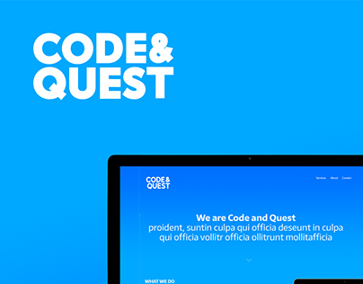 Code and Quest - logo and website design