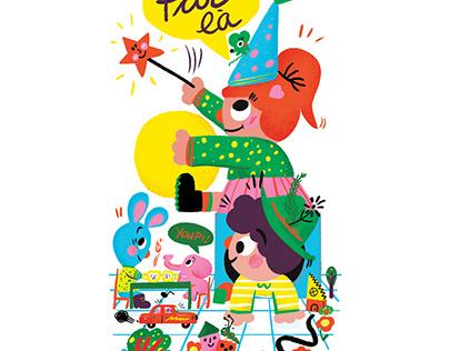 Illustrations pour la zone jeunesse du Café Mosaïque