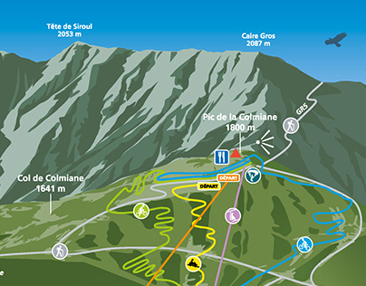 Pure Montagne - La Colmiane - Plan de la station été