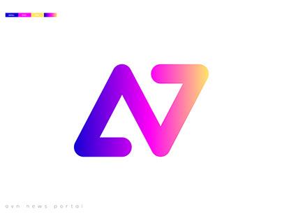 AVN news portal logo design
