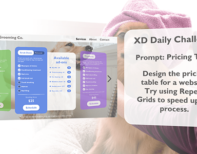 Pricing Table - XD Daily Creative Challenge