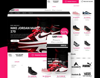 Garpstore Shoe Store Website - Landing Page