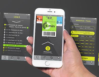 Public transport App Mobile UI/UX Concept