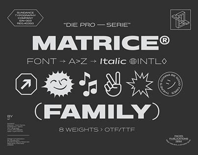 Matrice Font Family