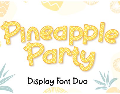 Pineapple Party | Summer Display Font