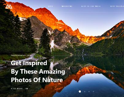 Travel Blog - Website UI Design