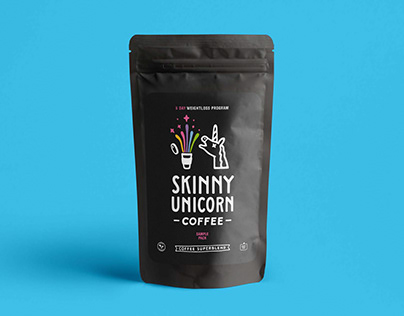 Skinny Unicorn Coffee - Packaging design