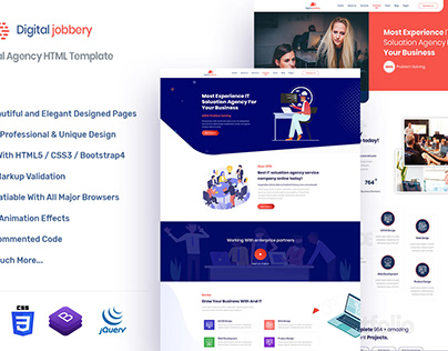 Jobbery Digital Agency HTML Template