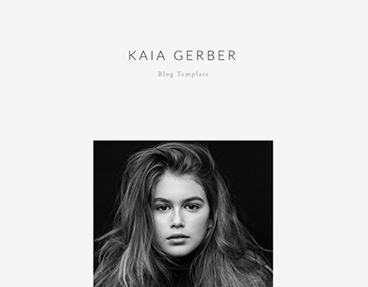 Kaia Gerber - Blog template