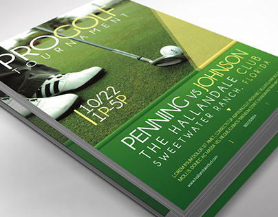 Golf Tournament Flyer Word Publisher Template