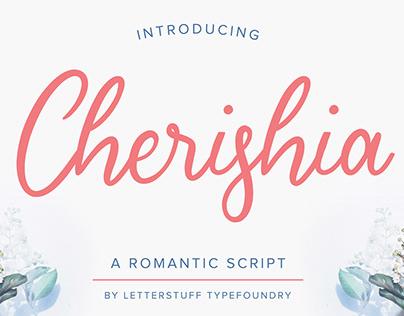 Free Cherisia Romantic Script Font