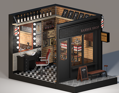 Space Project # 02 BLACK JACK'S Barber Shop