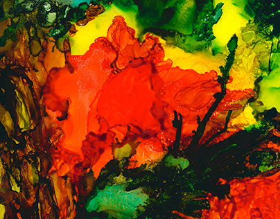 Alcohol Ink Abstract Paintings