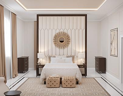 Modern classic guest bedroom with bathroom- UAE, Dubai